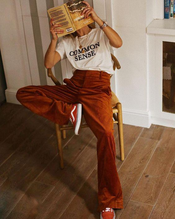 kadife pantolon kombini 2019 modelleri