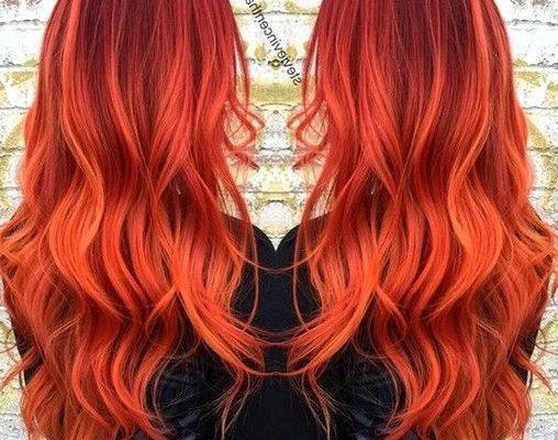 Kızıl Ombre Saç Renkleri