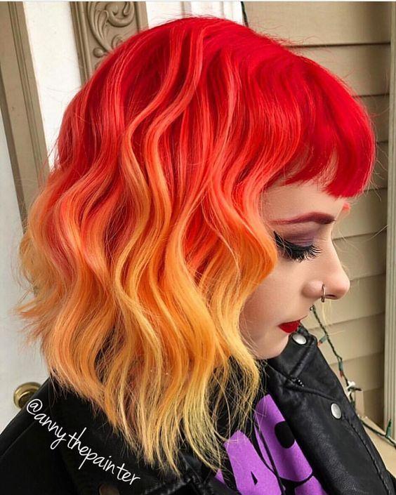 kizil turuncu ombre modelleri
