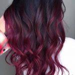 koyu kızıl saç ombre modelleri
