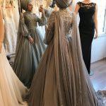 nişan elbise modelleri tesettür 2019