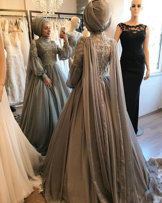3dbb23edab954 nişan elbise modelleri tesettür 2019 | Her Güne Bir Yudum Bilgi
