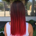 red color hair style 2019
