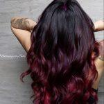 siyah saç kızıl ombre modelleri