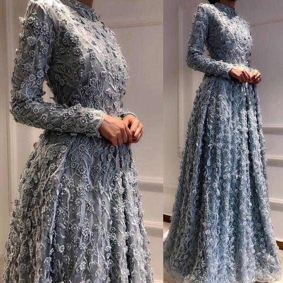Nişanda Giymek İçin Tesettür Abiye Modelleri