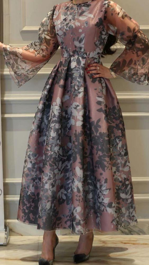 tesettur ispanyol kol elbise modeli