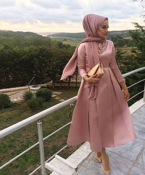 tesettur nisan elbisesi modeli 2019