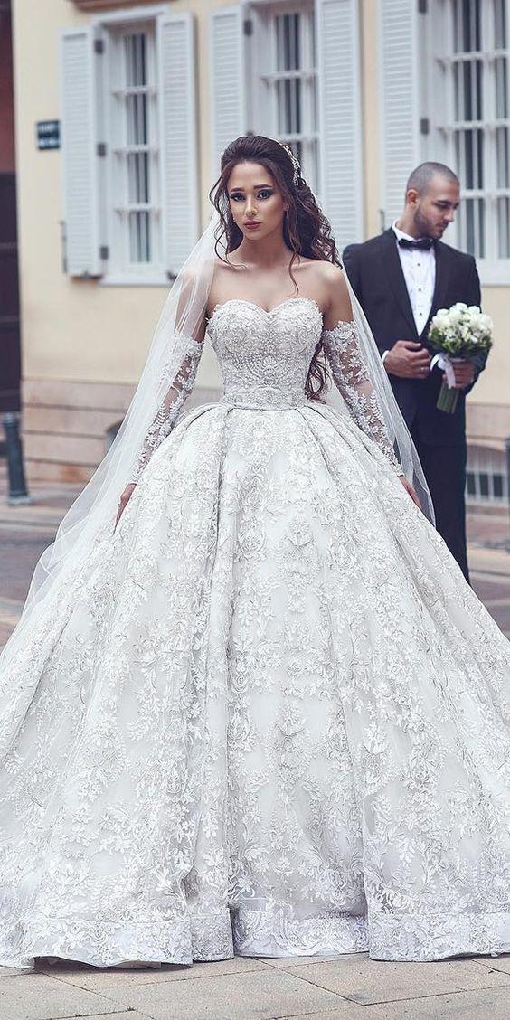 2019 gelinlik modeli prenses