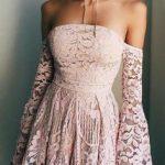 dantelli mezuniyet elbisesi modelleri