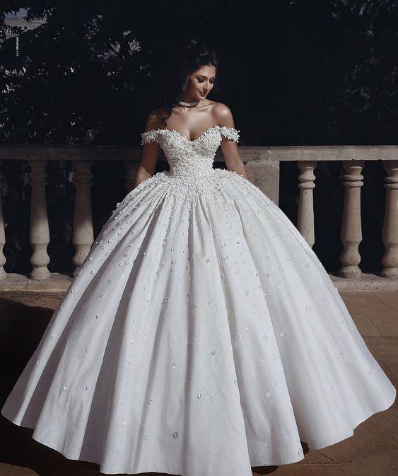 kabarık prenses model gelinlik 2019