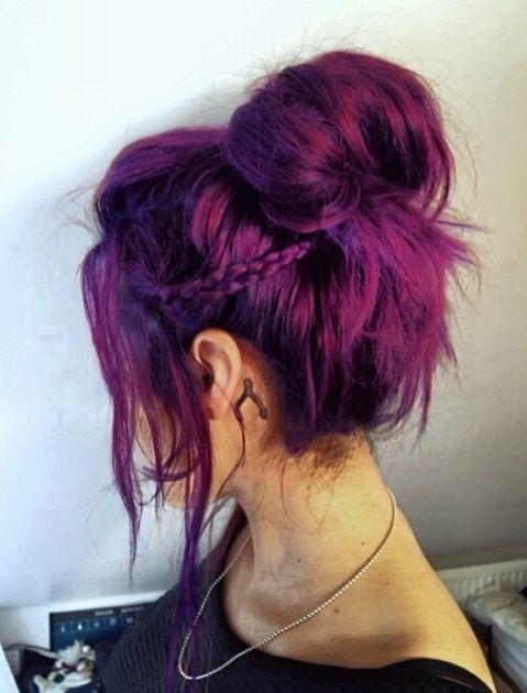 purple hair modals
