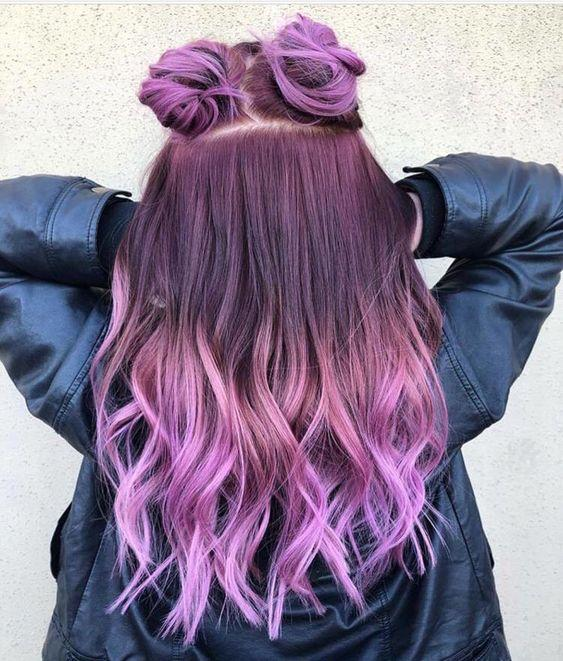 soft mor saç rengi 2019