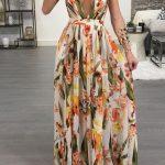 uzun cicekli sik elbise modelleri 2019