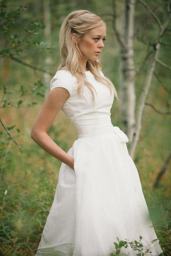 beyaz nikah elbise modeli