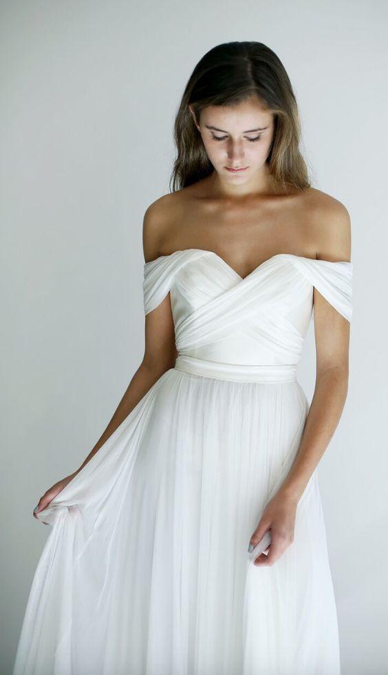 beyaz uzun nikah elbisesi modeli