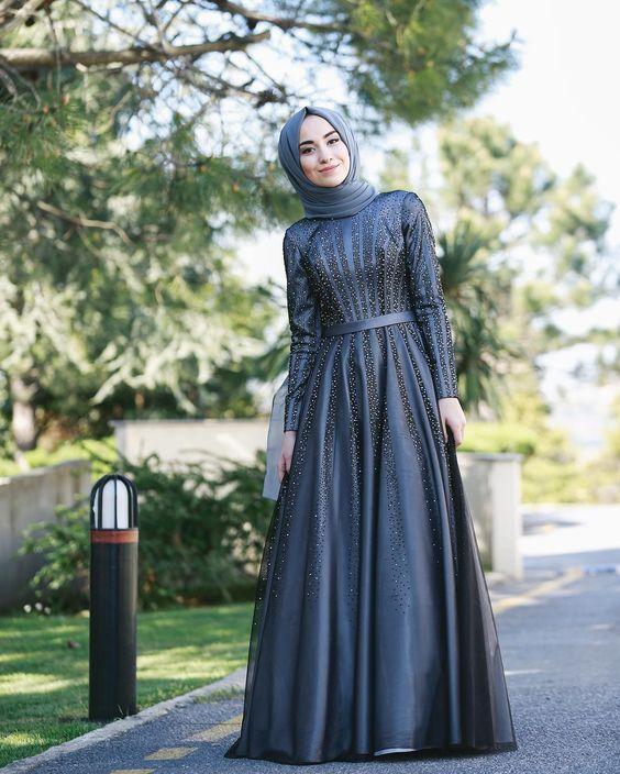 boncuk işlemeli nişan elbisesi