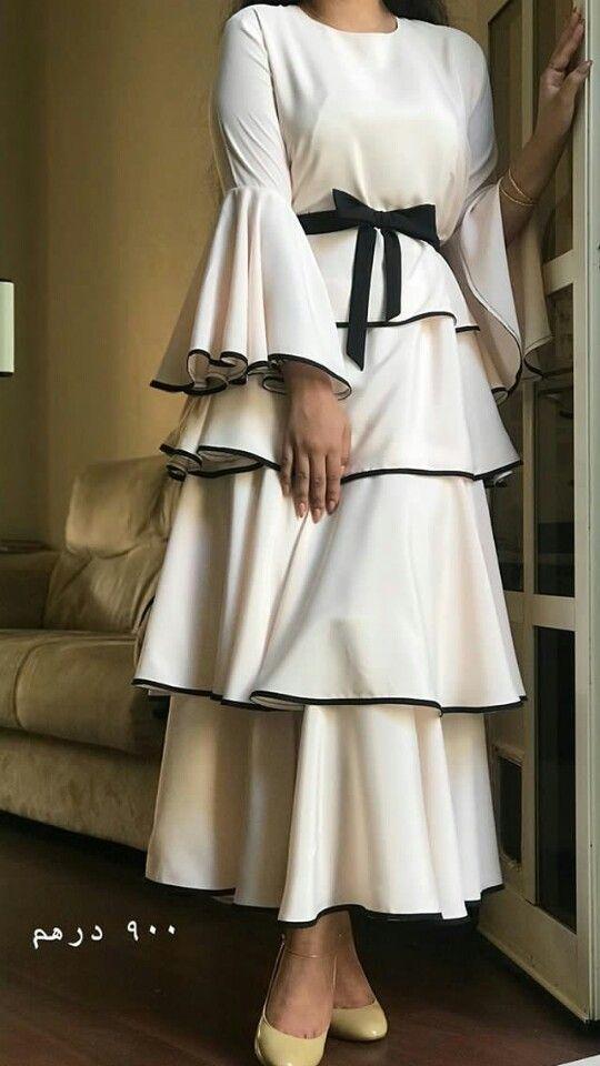 fırfırlı beyaz abiye elbise