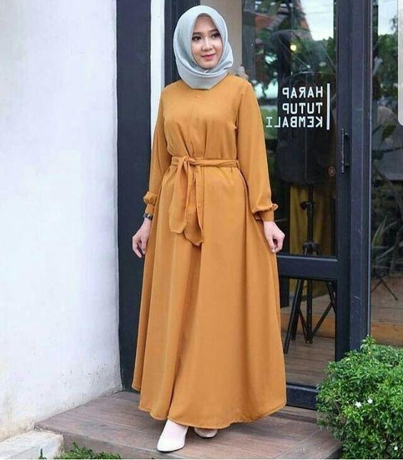 genç tesettür elbise modelleri 2019