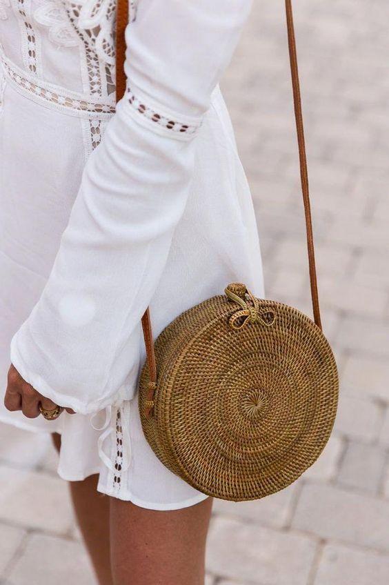 hasır çanta kombinleri 2019