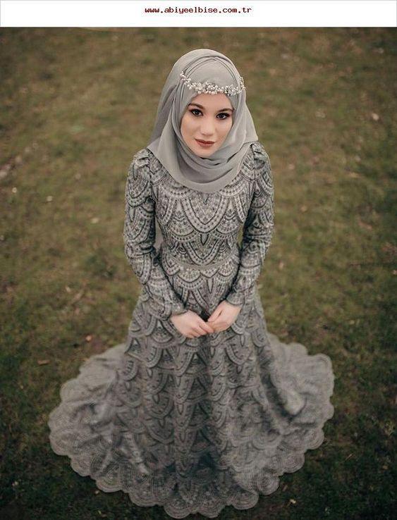 nişan elbisesi tesettür modelleri