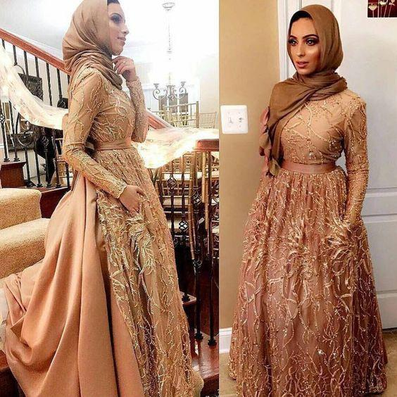 nişan tesettür elbisesi 2019 modelleri