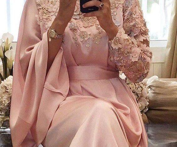 pembe nişan elbise modelleri