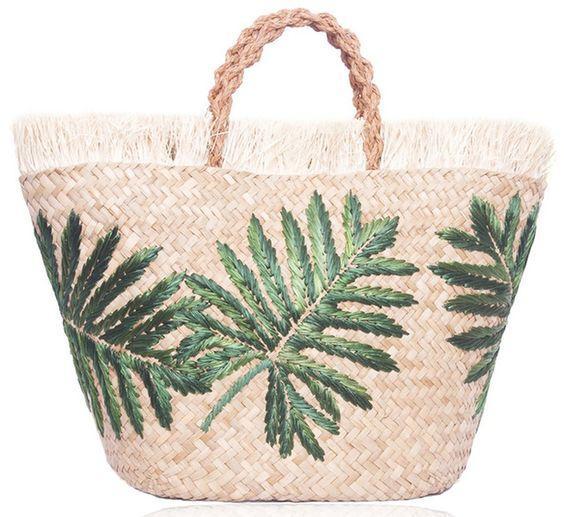 plaj için hasır çanta