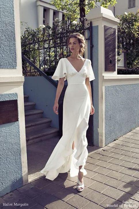 sade beyaz uzun elbise modelleri