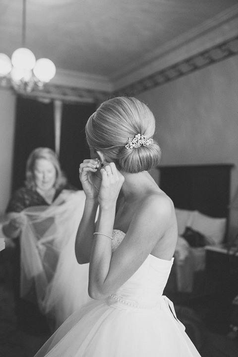 sade modern düğün saç modeli