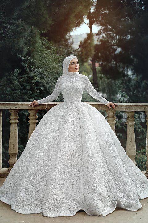 tesettür prenses gelinlik modelleri 2019