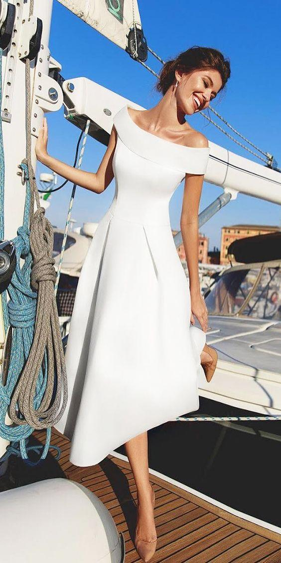 white dress modals 2019