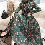 çiçekli elbise modeli 2019