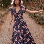 çiçekli elbise modelleri 2020