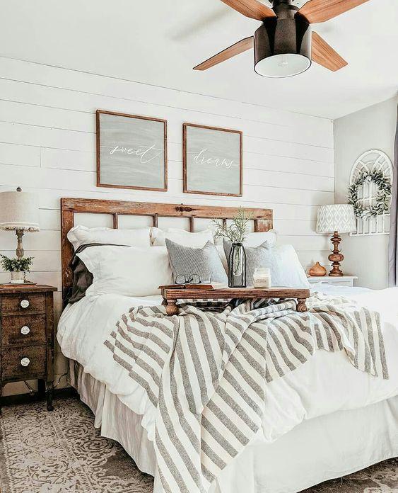 ahşap yatak odası dekorasyonu