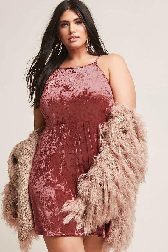 büyük beden kısa elbise kış