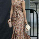 günlük uzun elbise modeli