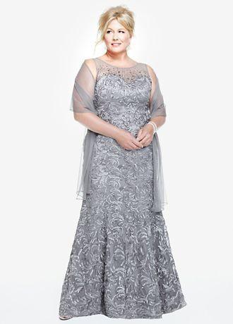 gri büyük beden abiye elbise modelleri
