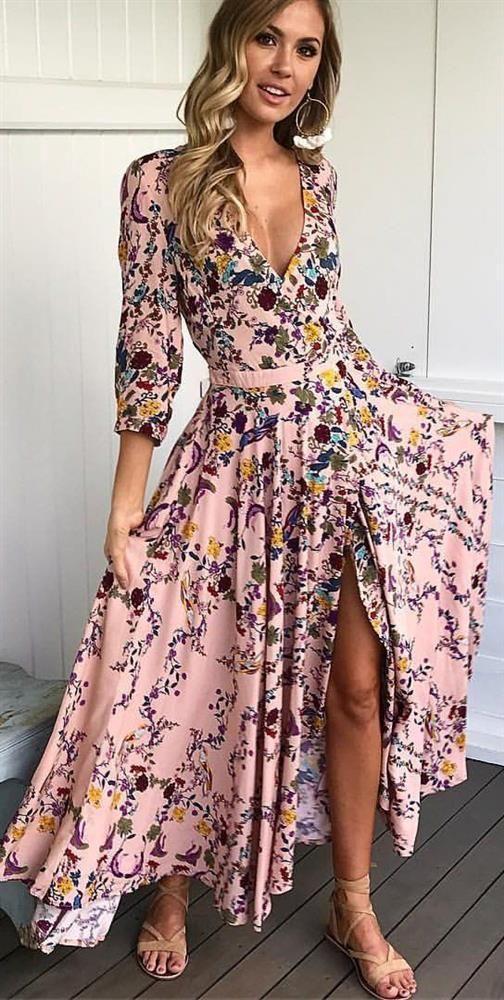 vmini çiçekli elbise modelleri