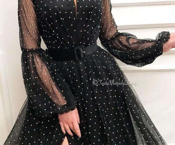 uzun elbise modelleri 2019