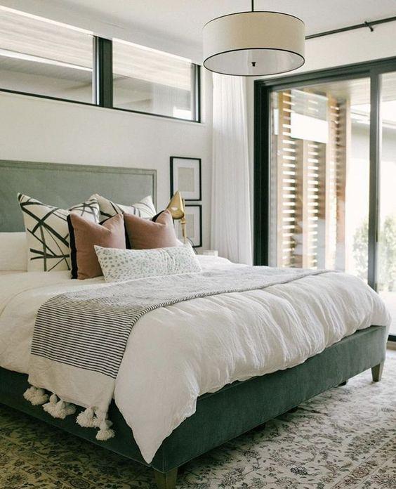 yeşil yatak odası dekorasyon modelleri