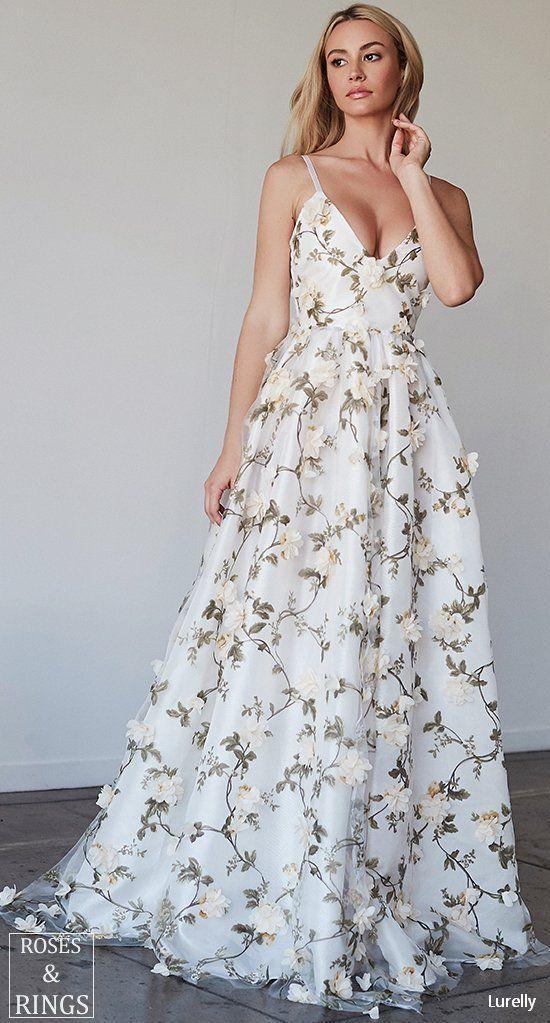 çiçekli abiye elbise modeli