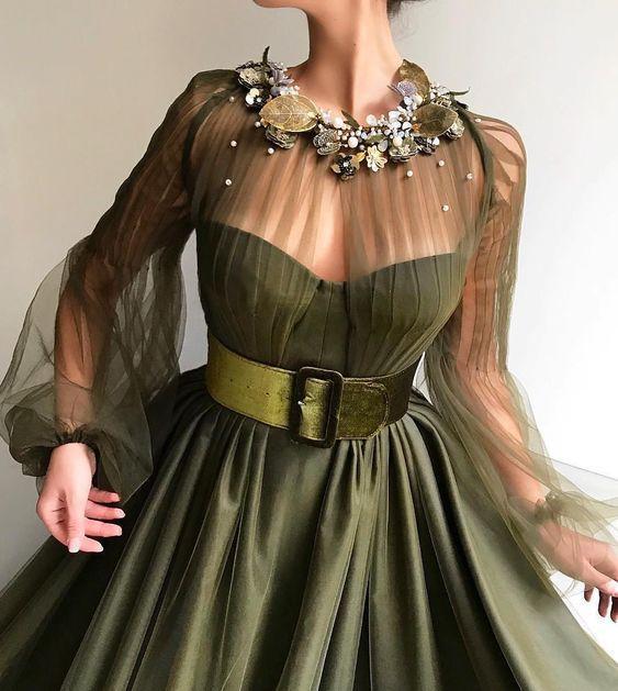 çiçekli abiye elbise modelleri