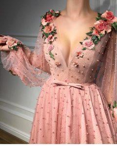 güllü abiye elbise modeli