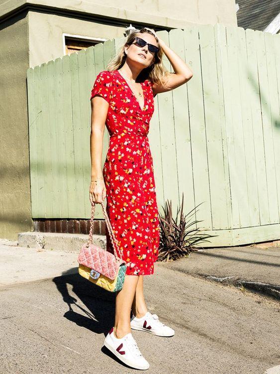 kırmızı midi boy elbise