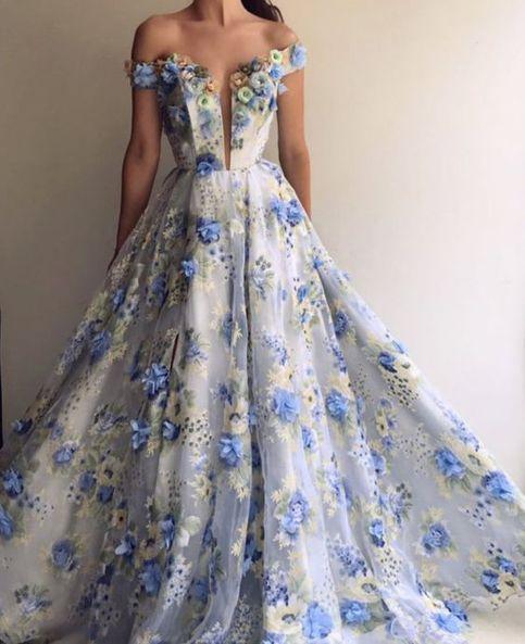 kabarık abiye elbise modeli