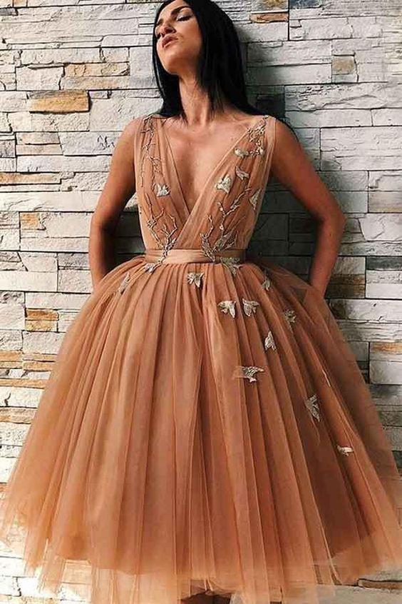 kahverengi midi boy elbise modelleri