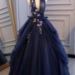 lacivert abiye elbise modeli 2019