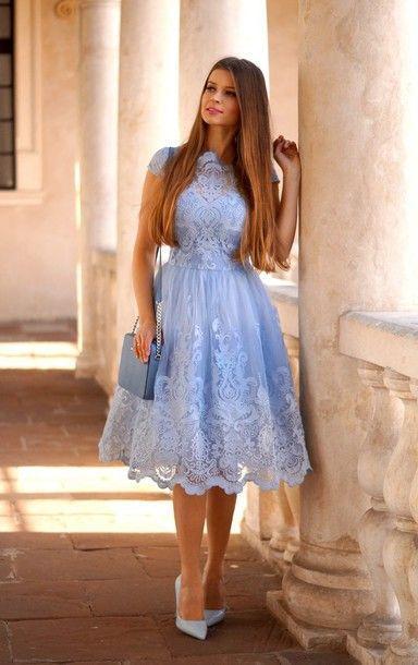 mavi elbise modeli
