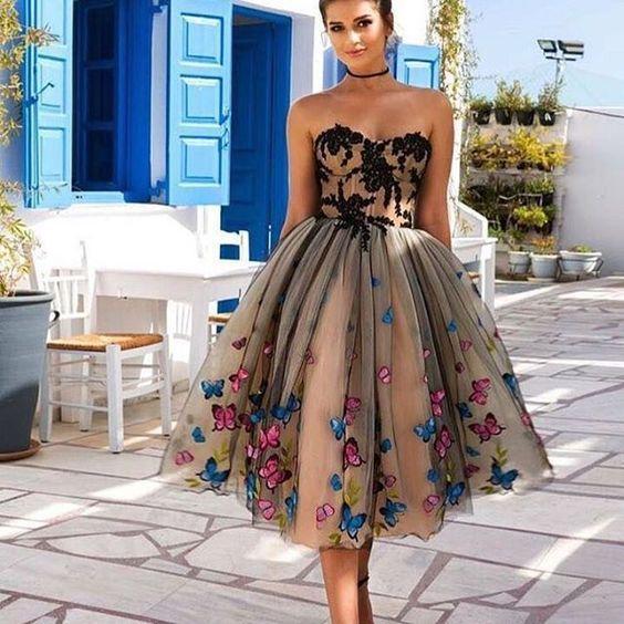 midi abiye elbise modelleri