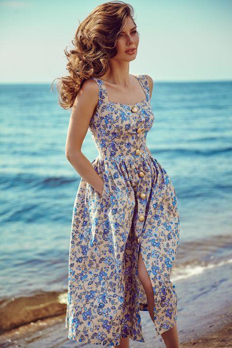 midi boy çiçekli elbise